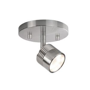 Nickel One-Light LED Track Light