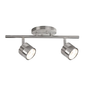 Nickel Two-Light LED Track Light