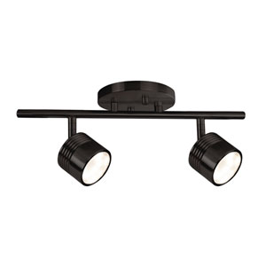 Bronze Two-Light LED Track Light