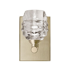 Brass Six-Inch One-Light LED Bath Sconce