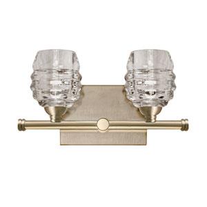 Brass 12-Inch Two-Light LED Bath Vanity