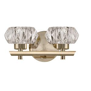 Brass 10-Inch Two-Light LED Bath Vanity
