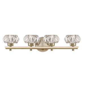 Brass 22-Inch Four-Light LED Bath Vanity