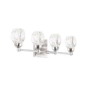 Tulip Nickel Four-Light LED Bath Vanity