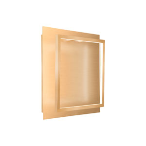 Mondrian Gold 14-Inch One-Light LED Sconce