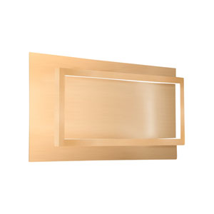 Mondrian Gold 16-Inch One-Light LED Sconce