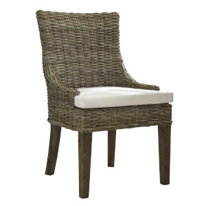 Alfresco Kubu Gray Dining Chair, Set of 2
