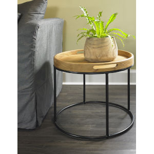 Berkeley Natural and Iron End Table