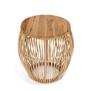 Edgewater Natural Rattan End Table