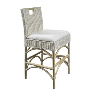 Malio Whitewash Rattan Counter Stool