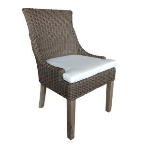 Outdoor Alfresco Kubu Grey Wicker 36-Inch Patio Dining Chair