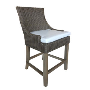 Outdoor Alfresco Kubu Grey Wicker 44-Inch Patio Dining Chair