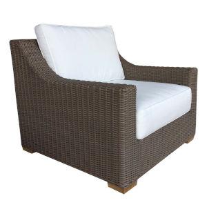 Outdoor Nautilus Kubu Grey Resin Wicker 37-Inch Lounge Chair