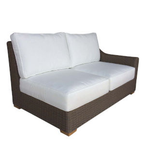 Outdoor Nautilus Kubu Grey Resin Wicker Right Facing Loveseat