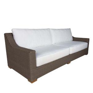 Outdoor Nautilus Kubu Grey Resin Wicker Sofa