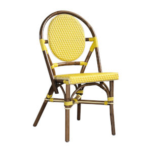 Paris Bistro Yellow Outdoor Dining Chair