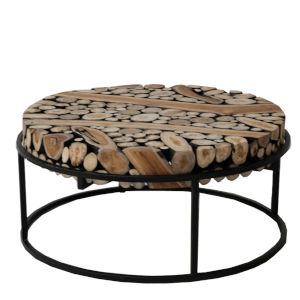 Safari Black and Natural 37-Inch Coffee Table