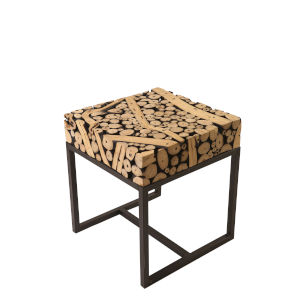 Safari Black and Natural 20-Inch End Table