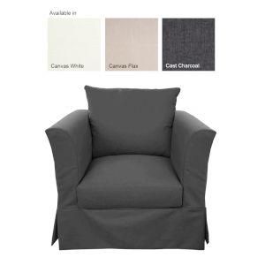 Sunset Beach Canvas Flax Chair