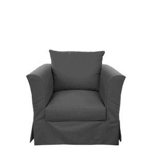 Sunset Beach Cast Charcoal Polyurethane Foam Living Room Chair