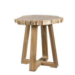 Ibiza Petrified Wood End Table