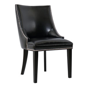 Metro Black Eco Leather Dining Chair