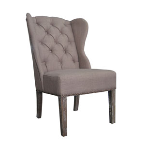 Naples Oatmeal Linen Dining Chair