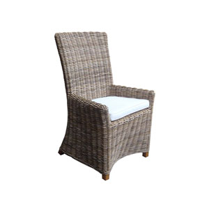 Nico Arm Chair Kubu with White Cushion