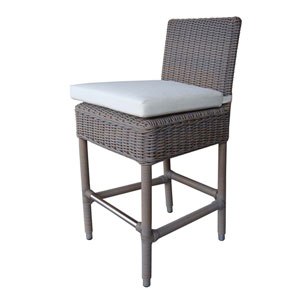 Outdoor Boca Counterstool with White Outdoor Cushion