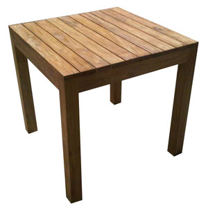 Rustic Teak Outdoor 31.5-Inch Dining Table