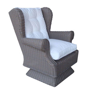 Outdoor Wing Swivel Rocking Chair