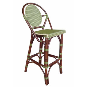Paris Bistro Green Barstool