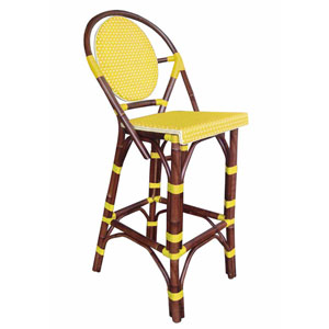 Paris Bistro Yellow Barstool
