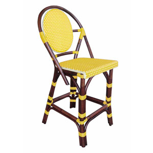 Paris Bistro Yellow Counterstool
