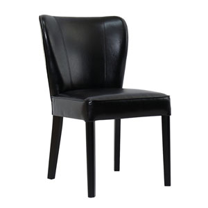 Rest Beach Black Eco Leather Dining Chair