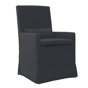 Sandspur Beach Charcoal Grey Arm Dining Chair