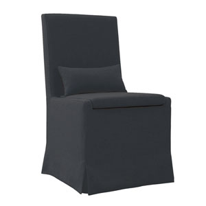 Sandspur Beach Charcoal Grey Dining Chair with Casters