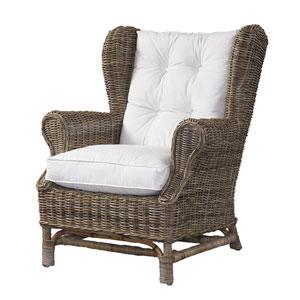 Wing Chair Kubu with White Cushion