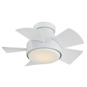Vox Matte White 26-Inch 2700K LED Flush Mount Ceiling Fans