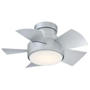 Vox Titanium Silver 26-Inch 2700K LED Flush Mount Ceiling Fans