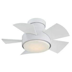 Vox Matte White 26-Inch 3000K LED Flush Mount Ceiling Fans