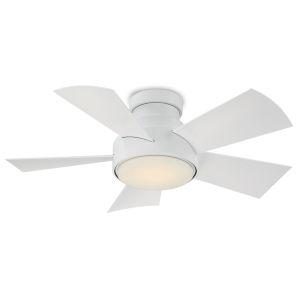 Vox Matte White 38-Inch 3500K LED Flush Mount Ceiling Fans
