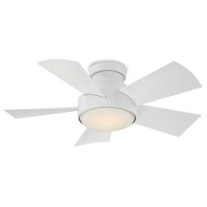 Vox Matte White 38-Inch 3000K LED Flush Mount Ceiling Fans