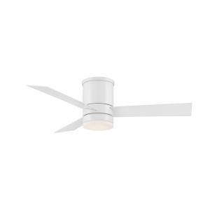 Axis Matte White 44-Inch ADA LED Flush Mount Ceiling Fan