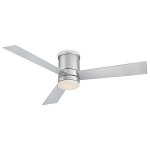 Axis Titanium Silver 52-Inch 3500K LED Flush Mount Ceiling Fans