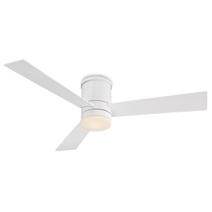 Axis Matte White 52-Inch 3000K LED Flush Mount Ceiling Fans