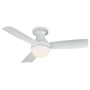 Aloft Matte White 44-Inch 2700K LED Flush Mount Ceiling Fans