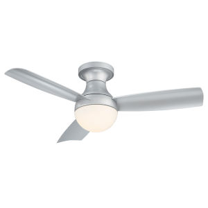 Aloft Titanium Silver 44-Inch 3000K LED Flush Mount Ceiling Fans