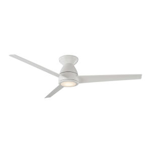 Tip Top Matte White 52-Inch ADA LED Flush Mount Ceiling Fan