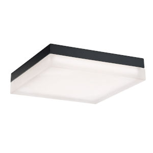 Matrix Black 12-Inch 2700K LED ADA Outdoor Flush Mount
